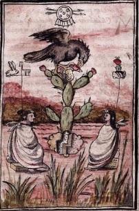 Glifo de la fundación de Tenochtitlan
